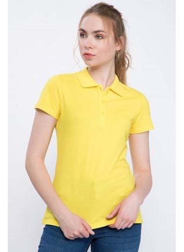 DeFacto Basic Polo T-shirt Sarı